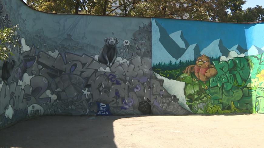 Галерея стрит-арта: художники расписали одну из стен в центре Бишкека