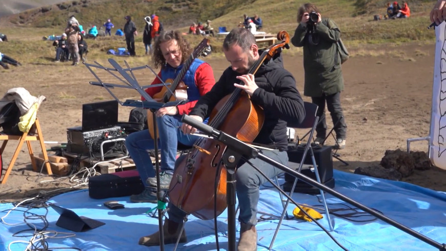 Уникальный концерт прошел в кратере камчатского вулкана